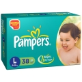 Pampers 38 Disposable Diapers Large For 9-14kg